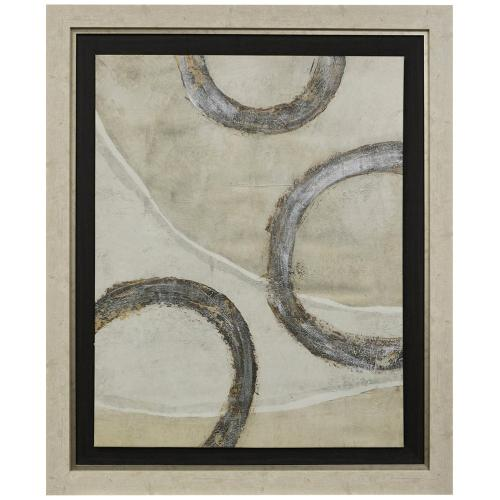Style Craft - EMBELLISHED REGLETS II  44w X 52ht  Stretched Hand Painted Canvas Mounted and Framed