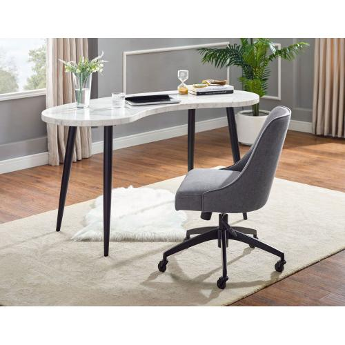 Kinsley 2-Piece Marble Top Desk Set (Marble Top Desk & Desk Chair)