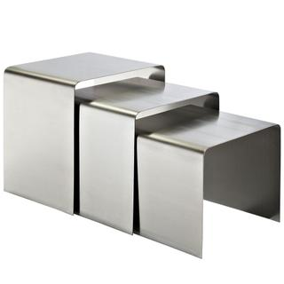 See Details - Rush Nesting Table in Silver