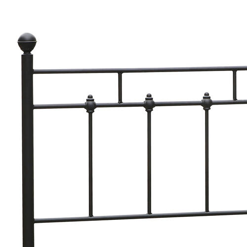 Shaker Metal Twin Bed in Black, All-In-One