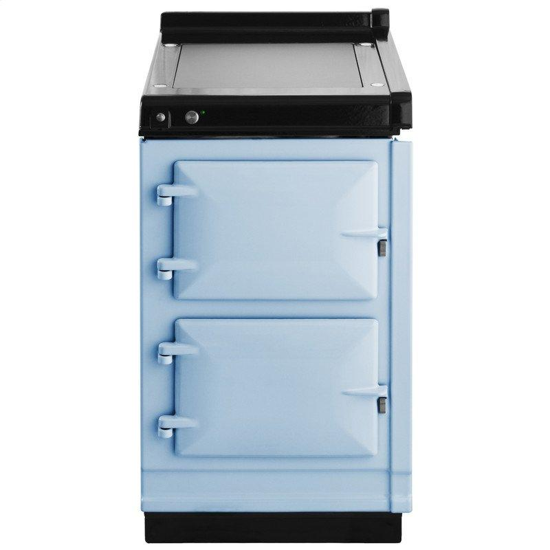 """AGA Hotcupboard 20"""" Electric Duck Egg Blue with Stainless Steel trim"""
