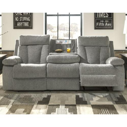 Mitchiner Reclining Sofa With Drop Down Table
