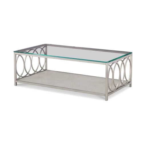 Glass Top Rect. Cocktail Table