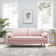 Revive Performance Velvet Sofa in Pink