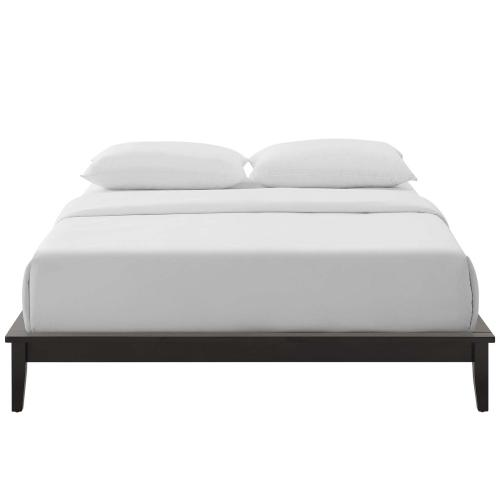 Lodge Queen Wood Platform Bed Frame in Cappuccino