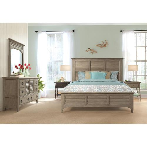 Myra - Queen Louver Footboard - Natural Finish