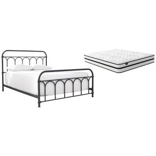 See Details - Queen Metal Bed With Mattress