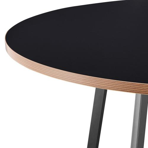 """Courtdale KD 48"""" Round Table, Black"""