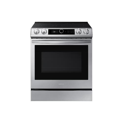 6.3 cu ft. Smart Slide-in Electric Range with Smart Dial & Air Fry in Stainless Steel