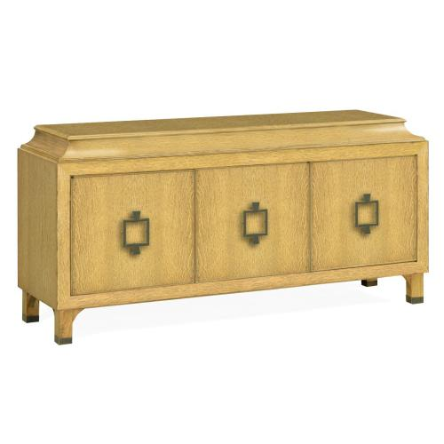 Natural Oak Three-Door Buffet