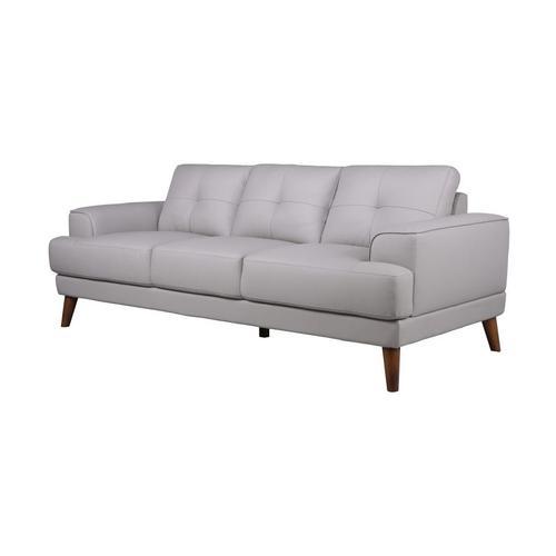 Anzio Cream Leather Sofa, Loveseat & Chair, L7120