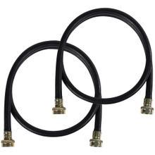 2 pk Black EPDM Washing Machine Hoses, 4ft