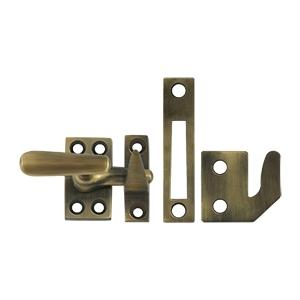 Deltana - Window Lock, Casement Fastener, Small - Antique Brass