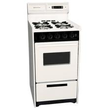 """See Details - Deluxe Bisque Gas Range In Slim 20"""" Width With Electronic Ignition, Digital Clock/timer, Oven Window and Light; Replaces Stm1307kw"""