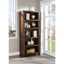 "Baton Rouge 72"" Bookcase In Brushed Walnut Finish"