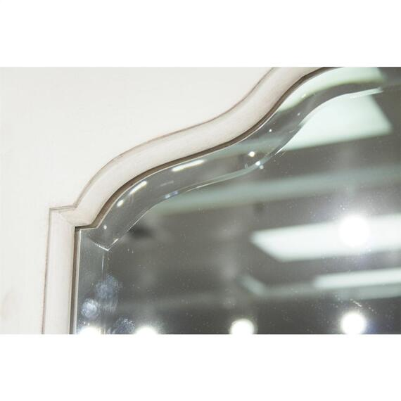 Riverside - Myra - Landscape Mirror - Paperwhite Finish