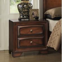 See Details - Oakland 139 Antique Oak Finish Wood 2 Drawers Night Stand