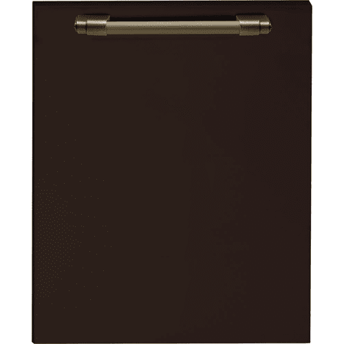 Dishwasher panel with handle Brown matte, Bronze