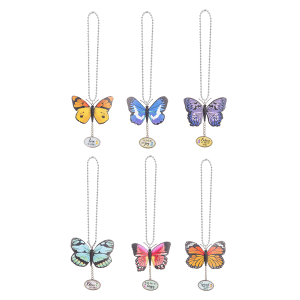 Butterfly Car Charms (12 pc. ppk.)