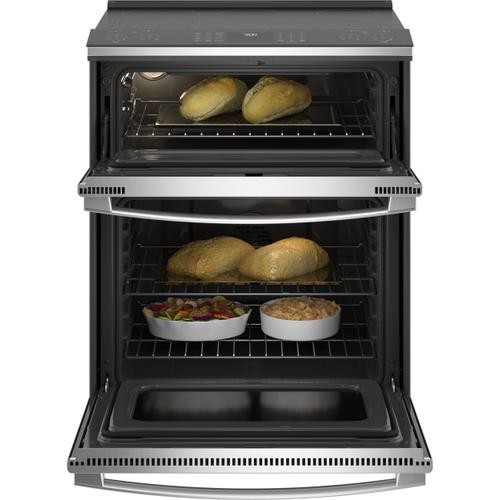 "GE Profile™ 30"" Smart Slide-In Electric Double Oven Convection Fingerprint Resistant Range"