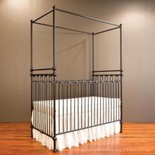 See Details - Joy Canopy Crib Distressed Black