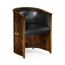 Knightbridge dining chair, upholstered in black leather