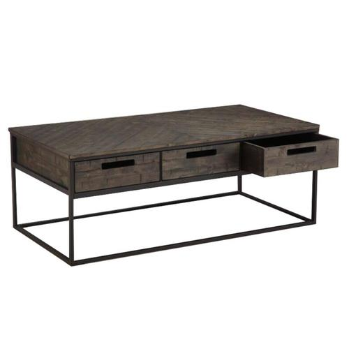 Magnussen Home - Rectangular Cocktail Table w/Wood Top