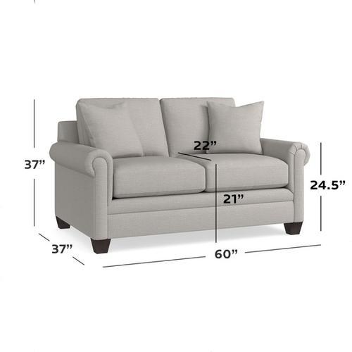 Bassett Furniture - Carolina Panel Arm Loveseat