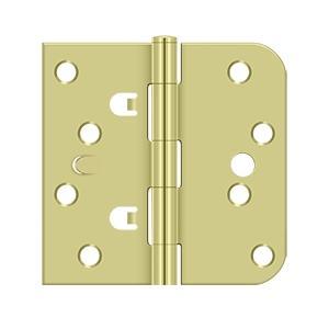 """Deltana - 4"""" x 4"""" x 5/8"""" x SQ Hinge - Polished Brass"""