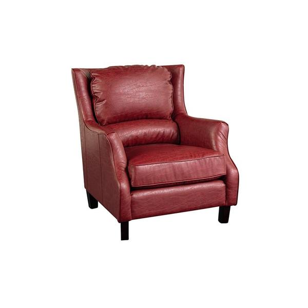 See Details - Garnett Red Leather-Look Accent Chair, ACL516