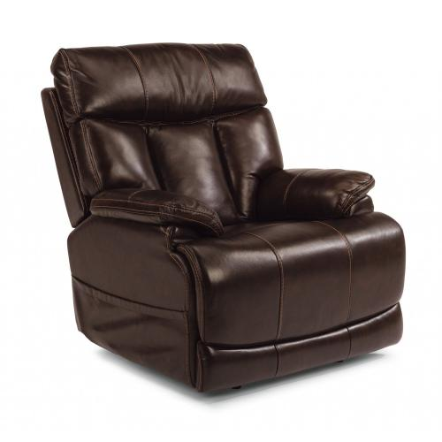 - Chloe Leather Power Recliner with Power Headrest