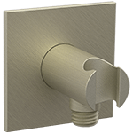 Shower Outlet Elbow with Hand Shower Holder R + S Brushed Nickel