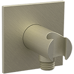 Shower Outlet Elbow with Hand Shower Holder R + S Brushed Nickel Product Image