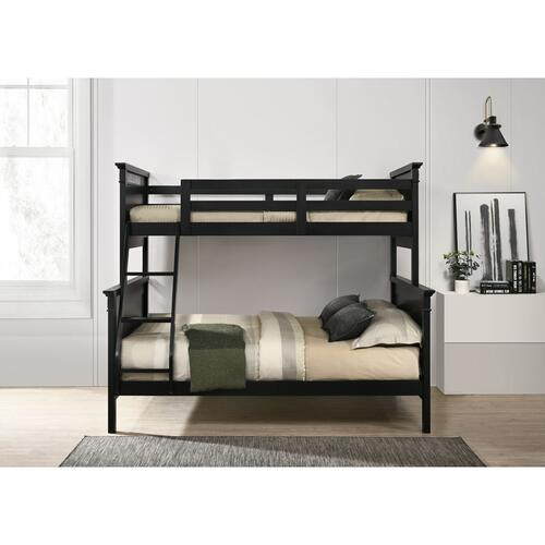 Calloway Twin over Full Bunk Bed with Trundle in Antique Black