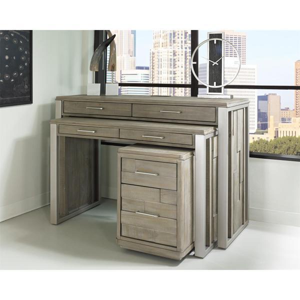"See Details - Intrigue - 30"" Nesting Desk - Hazelwood Finish"