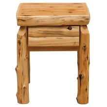 See Details - One Drawer Nightstand - Natural Cedar - Log Front