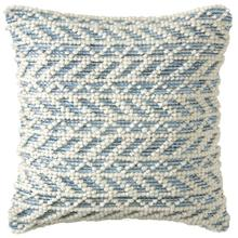 Herringbone Berber Pillow, BLUE, 18X18