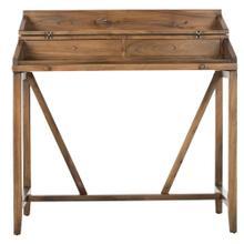Wyatt Writing Desk W / Pull Out - Oak