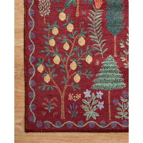 MEN-02 Menagerie Forest Crimson Rug