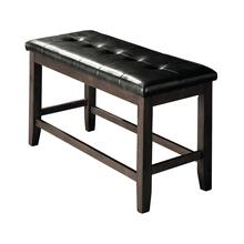 8750 GRAY Cushion Counter Height Bench