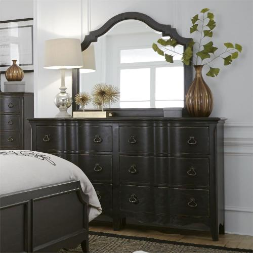 Queen Uph Bed, Dresser & Mirror, Chest, Night Stand