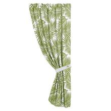 Capri Green U0026 White Fern Single Panel Curtain