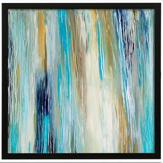 Ocean Tones I  Made in USA  Artist Print  Faux Wood Frame Under Glass  Attached Hanging Hardware