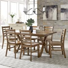 Sedona Rectangular Trestle Dining Table & 6 Chairs