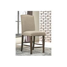 Lettner Upholstered Barstool Gray/Brown