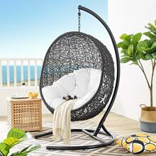 Encase Swing Outdoor Patio Lounge Chair in White