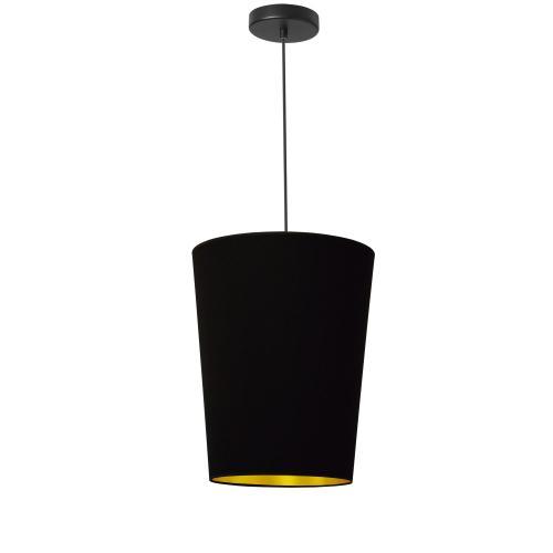 1lt Paisley Pendant Blk/gld, Small Black
