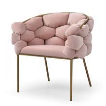 Modrest Debra - Modern Pink Fabric Dining Chair