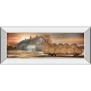 """Sunset On The Farm"" By Lori Dieter Mirror Framed Print Wall Art"