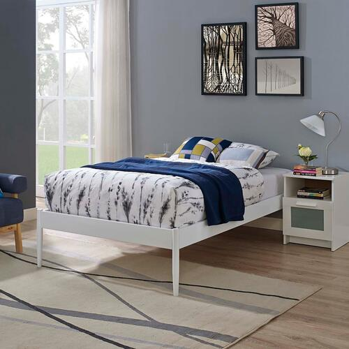 Modway - Elsie Twin Bed Frame in White